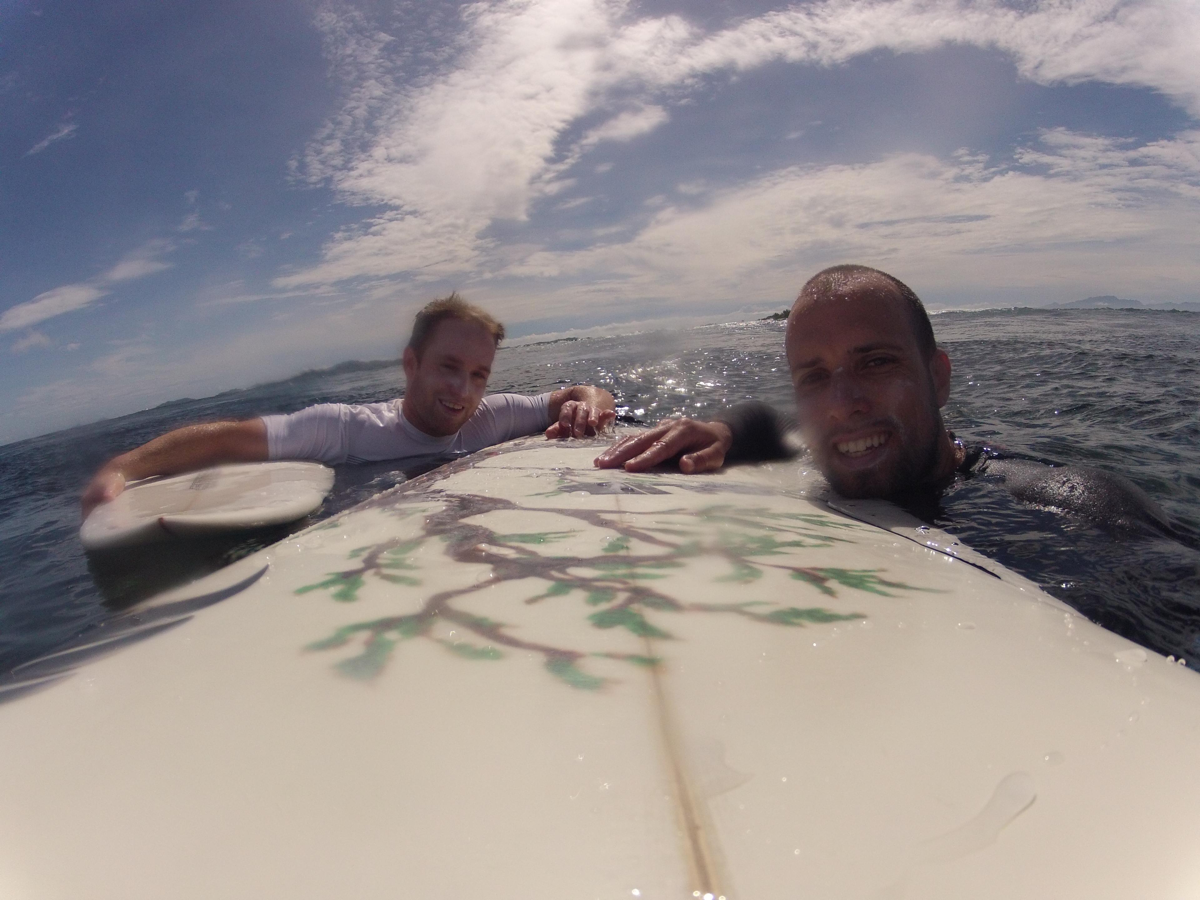 Surfing in Tavarua, Fiji